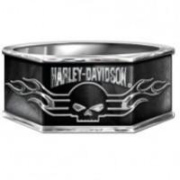 Harley-Davidson ® Sterling Silver Art Deco Skull Ring Franklin Mint - Product Image