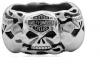 Harley-Davidson ® Wedding Band  Stainless Steel  Willie G Skull Ring  Available in Sizes 9-14HSR0019