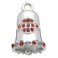 Harley Davidson ® Mod Jewelry® Pink Crystal Motorcycle Ride Bell  FREE SHIPPINGHRB019 - Product Image
