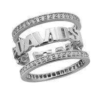 Harley-Davidson ® Sterling Silver Three Piece Stacking Ladies Wedding Band Ring  Mod Jewelry®HDR0294 - Product Image