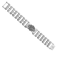 Harley Davidson ® by Mod Jewelry® Wide Primary Bike Chain Stainless Steel Men's BraceletHSB0146  - Product Image