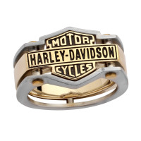 Harley-Davidson® & Mod Jewelry® Brass and Stainless Logo Men's Biker Ring sizes 9 - 14HSR0035 - Product Image