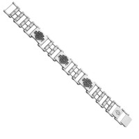 Harley-Davidson® Motorcycle Stainless Steel Bike Chain Bracelet Mod Jewelry®HSB0207  - Product Image