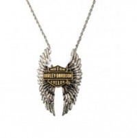 Harley-Davidson® Sterling Silver Wings of Wonder Women's Necklace by the Franklin Mint - Product Image