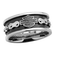 Harley Davidson® Wedding Band Stainless Steel Bike Chain Ring MOD Jewelry® HSR0023 - Product Image