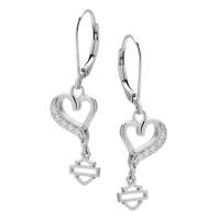 Harley-Davidson® Mod Jewelry® Women's Wild Heart Embellished EarringsHDE0369  - Product Image