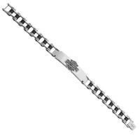 Harley-Davidson® Stainless Steel Bike Chain Logo ID Bracelet Mod Jewelry®HSB0071  - Product Image