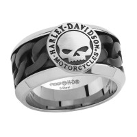 Harley-Davidson®  Stainless Steel  Chain Link Willie G. Wedding Band  HSR0030 - Product Image