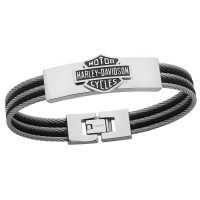 Harley-Davidson®  by Mod Jewelry ®  Stainless Steel  Men's Cable BraceletHSB0068 - Product Image