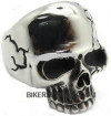 Heavy Cracked Skull  Men's Biker Ring  Stainless Steel  Sizes 10-14  FREE SHIPPING