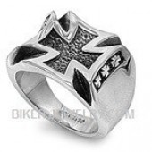 Heavy Stainless Steel  Iron Cross Biker Ring  Sizes 9-15  FREE SHIPPING - Product Image