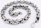 "Huge Byzantine  Square Link  Stainless Steel Necklace  24"" FREE SHIPPING - Product Image"
