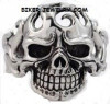 Huge Skull Cuff Bracelet with FlamesStainless SteelFREE SHIPPING