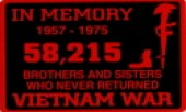 "IN MEMORY OF THE 58,215...Red and Black3"" x 4"" - Product Image"