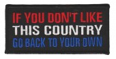 "If You Don't Like This Country Go Back To Your Own Biker Patch4 1/4"" x 2""FREE SHIPPING - Product Image"