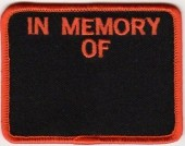 "In Memory OfMotorcycle Biker Patch3 1/4"" x 2 1/2""FREE SHIPPING - Product Image"