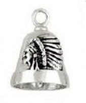 Indian Chief  Motorcycle Ride Bell ®  Sterling Silver - Product Image