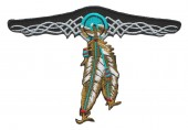 "Indian Feathers Biker Patch4 1/2 "" x 3""FREE SHIPPING - Product Image"