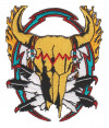 "Indian SkullBiker Patch3 3/4"" x 3 1/4""FREE SHIPPING"