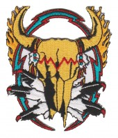 "Indian SkullBiker Patch3 3/4 "" x 3 1/4 ""FREE SHIPPING - Product Image"