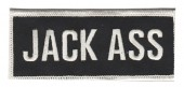 "Jack Ass PatchBiker Patch4"" x 1 3/4""FREE SHIPPING - Product Image"
