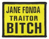 "Jane Fonda Traitor BITCHBiker Patch3 1/2 "" x 2 1/2 ""FREE SHIPPING - Product Image"