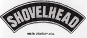 "SHOVELHEAD  Top Rocker  Motorcycle Biker Patch  3 Color Choices  11"" X 2 3/4 ""  FREE SHIPPING - Product Image"