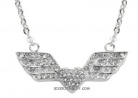 Ladies Art Deco Design Angel Wings/Heart Stainless Steel Bling  FREE SHIPPING - Product Image