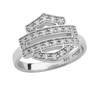 Ladies Bling Harley-Davidson ® Open Bar and Shield Logo Ring HDR0378 - Product Image