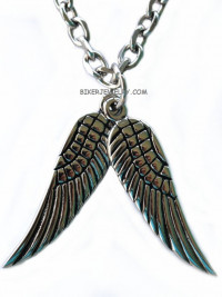 Ladies Dangling Pair of Angel Wings   Stainless Steel  FREE SHIPPING - Product Image