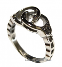 Ladies Handcuff Ring Stainless Steel Sizes 5-10  FREE SHIPPING - Product Image