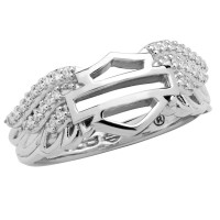 Ladies Harley-Davidson ® Angel Wings Logo Ring Mod Jewelry®HDR0337  - Product Image