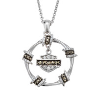 Ladies Harley-Davidson ® Motorcycle Barbwire Circle Biker NecklaceHDN0452  - Product Image
