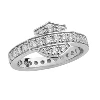 Ladies Harley-Davidson ® Motorcycle Bling Bar and Shield Logo Biker Ring  Available in Sizes 5-9HDR0159 - Product Image