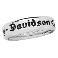 Ladies Harley-Davidson ® Motorcycle Comfort Fit Biker Wedding Band Sterling Silver HDR0217  - Product Image