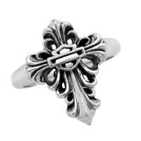 Ladies Harley-Davidson ® Motorcycle Sterling Silver Biker Cross Ring Mod Jewelry®HDR0311 - Product Image