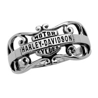 Ladies Harley-Davidson ® Motorcycle Sterling Silver Biker Gypsy Filigree Ring Mod Jewelry® HDR0218  - Product Image