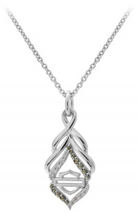 Ladies Harley Davidson ® Twist Necklace Pendant by Mod JewelryHDN0418 - Product Image