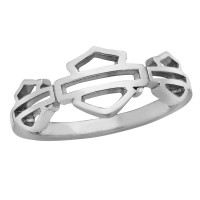 Ladies Harley-Davidson® Motorcycle Biker Open Logo Ring Sterling Silver Mod Jewelry®HDR0474 - Product Image