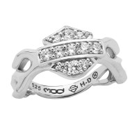 Ladies Harley-Davidson® Sterling Silver Flames with Logo Motorcycle Biker Ring  Available in Sizes 5-10HDR0358 - Product Image