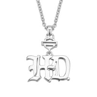 Ladies Necklace Harley Davidson ® by Mod Old English HD Sterling SilverHDN0423  - Product Image