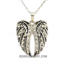 Ladies Pendant   Angel Wings  Stainless Steel  BLING  FREE SHIPPING - Product Image