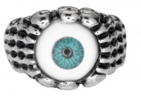 Ladies Stainless Steel Eye Ball Ring Sizes 5-9  FREE SHIPPING - Product Image