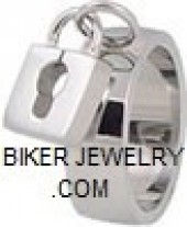 Women's  Stainless Steel  Love Lock Ring  Sizes 5-9  FREE SHIPPING - Product Image
