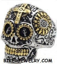 Ladies Wild Skull Ring Stainless Steel  FREE SHIPPING - Product Image
