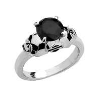 Ladies Harley-Davidson ® Motorcycle Double sided Willie G Skull Biker Ring  Sterling Silver HDR0373 - Product Image