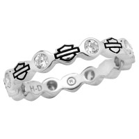 Ladies  Harley-Davidson ®  Sterling Silver  CZ Stacking Ring  Available in Sizes 4-9HDR0170 - Product Image