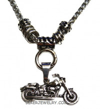 Ladies  Motorcycle Pendant Stainless Steel  FREE SHIPPING - Product Image