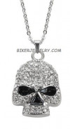 Ladies  Pendant/Chain  Bling/Skull  Stainless Steel  FREE SHIPPING