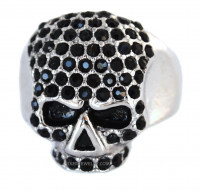 Ladies  Skull Bling Ring  Imitation Diamonds  Sizes 5-10  FREE SHIPPING - Product Image